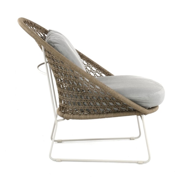 Basket Outdoor Rope Relaxing Chair Camel Side