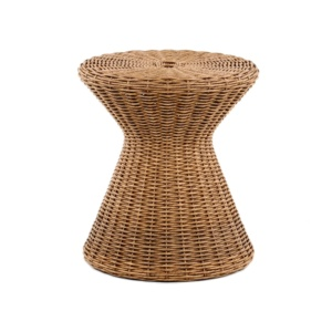 Bob Outdoor Wicker Side Table Front View