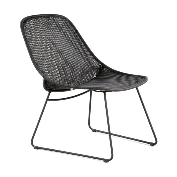 Joe Outdoor Wicker Relaxing Chair Coal Angle