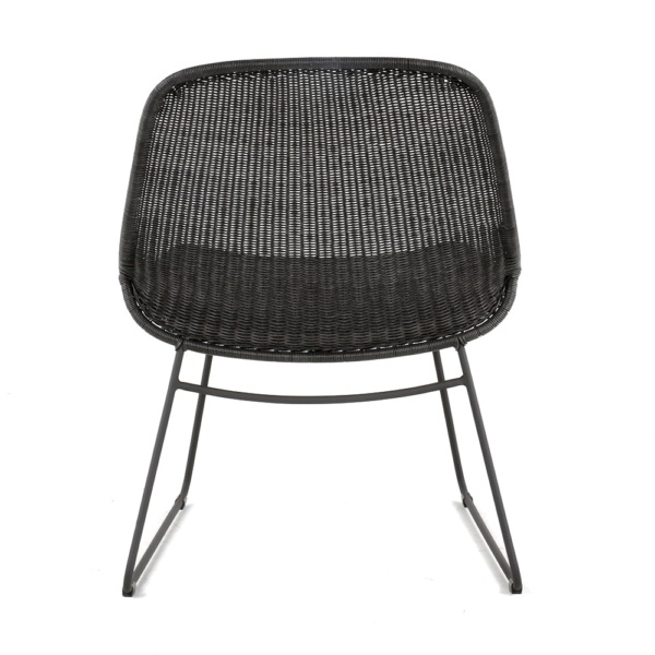 Joe Outdoor Wicker Relaxing Chair Coal Back