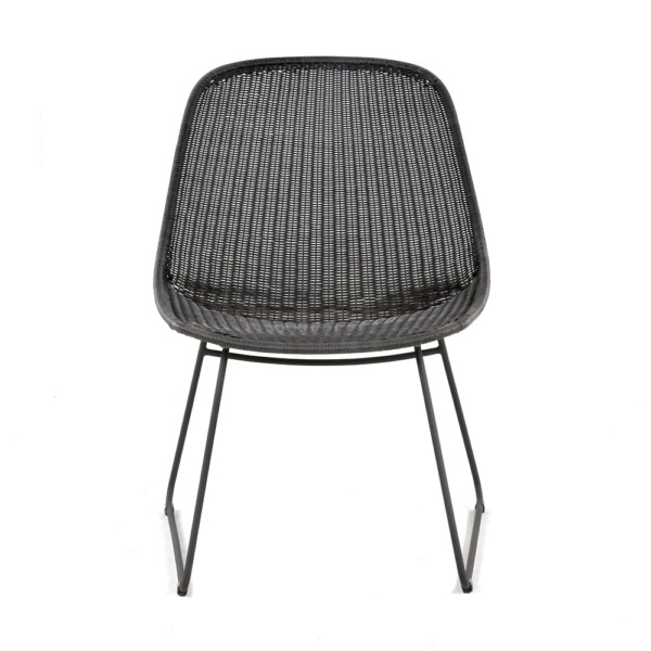 Joe Outdoor Wicker Relaxing Chair Coal Front