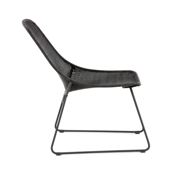 Joe Outdoor Wicker Relaxing Chair Coal Side