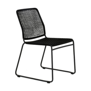 Kline Outdoor Rope and Aluminum Dining Side Chair Angle