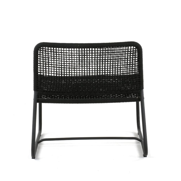Kline Outdoor Rope and Aluminum Relaxing Chair Back