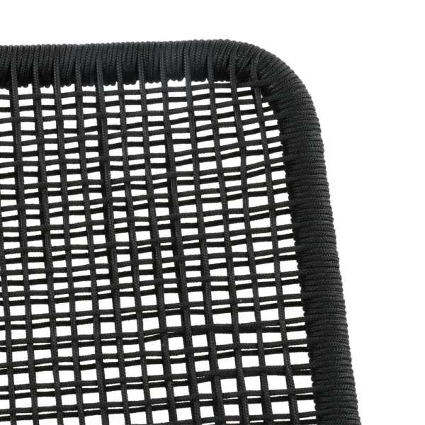 Kline Outdoor Rope and Aluminum Relaxing Chair Closeup