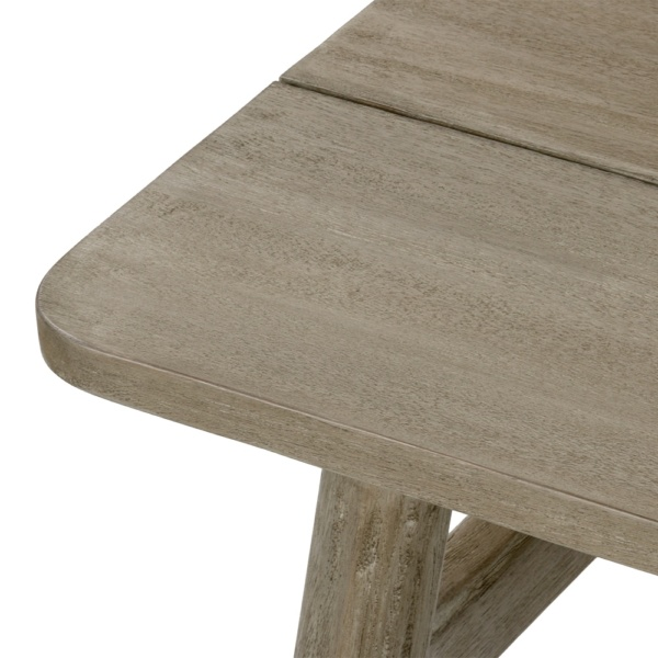 Sutherland Outdoor Teak Coffee Table Rectangle Closeup