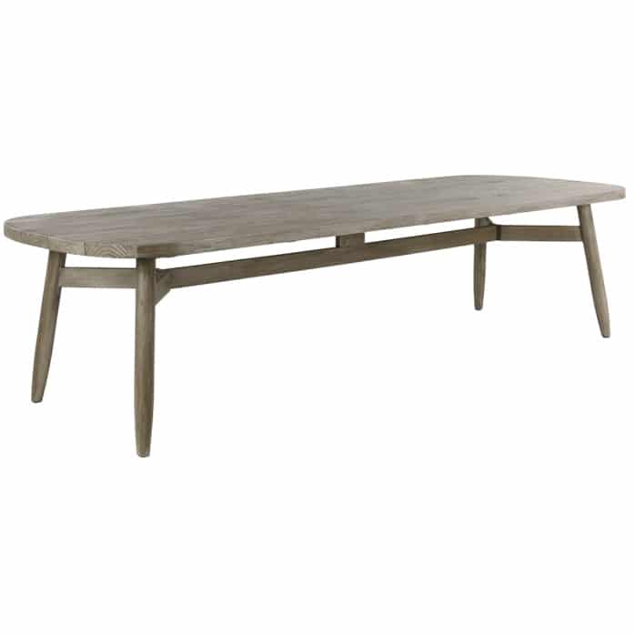 Sutherland Outdoor Teak Dining Table Angle