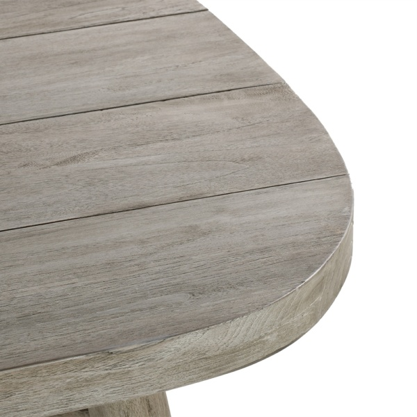 Sutherland Outdoor Teak Dining Table Closeup
