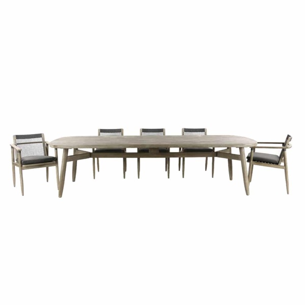 Sutherland Outdoor Teak Dining Table and Chair Set