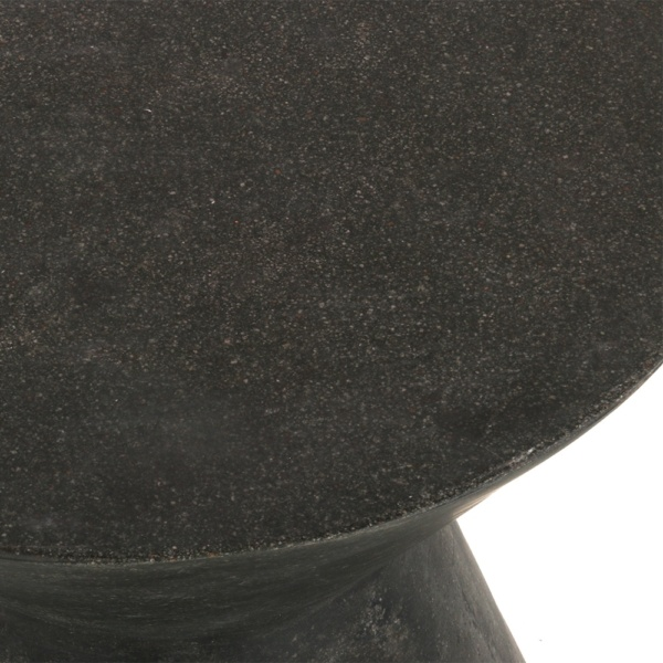 Zinc Outdoor Stool Graphite Closeup