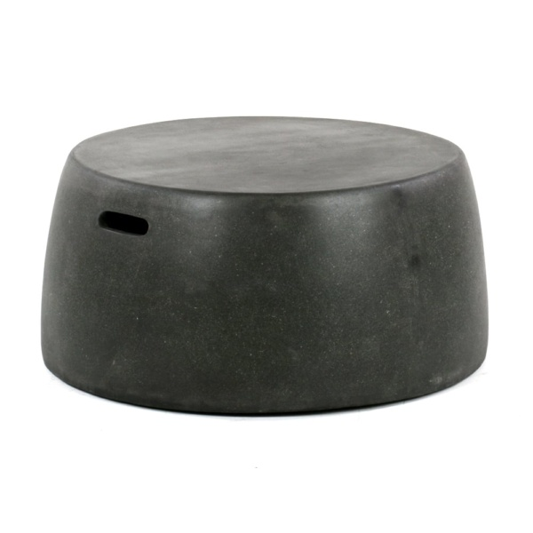 Zoe Outdoor Fiberglass Stool Large Angle