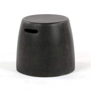 Zoe Outdoor Fiberglass Stool Small Graphite Front