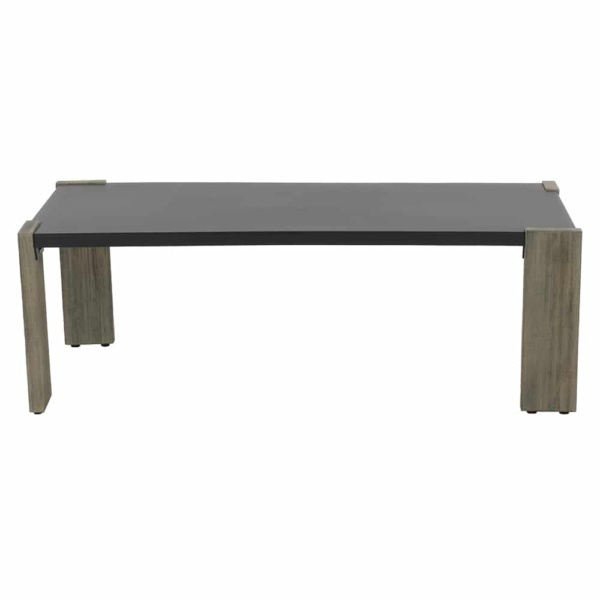 Kava outdoor furniture rectangle coffee table - front view
