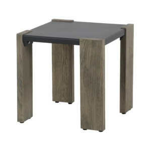 Kava outdoor square side table - angle view