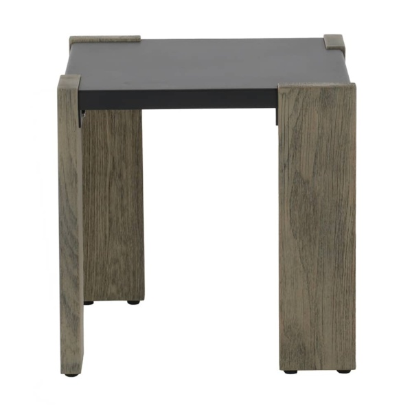 Kava outdoor square side table - front view