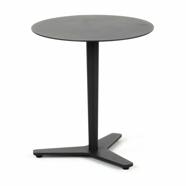 Point outdoor aluminum round side table