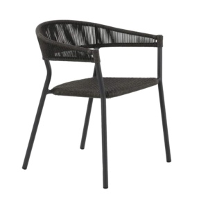 Spider outdoor dining stacking chair - angle view