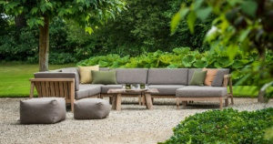 Gazzoni Outdoor Teak Deep Seating Sectional