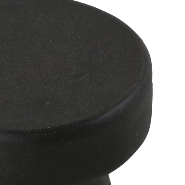 Ozzie Outdoor Fiberglass Stool Graphite Closeup View