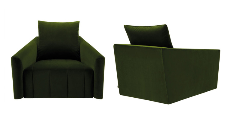 Belladonna Velvet Swivel Armchair