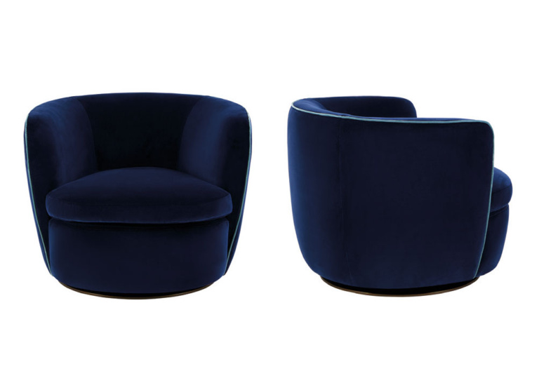Bellagio Relaxing Swivel Chair with Piping