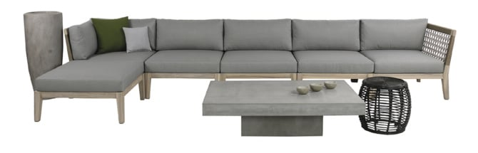 SCOTT ROPE AND RECLAIMED TEAK SECTIONAL COLLECTION