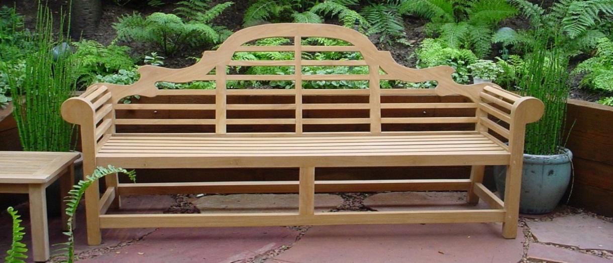 wood garden bench - lutyens 3