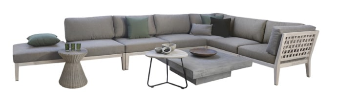 MASELLO AGED TEAK SECTIONAL FURNITURE COLLECTION